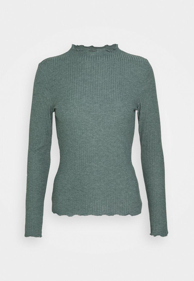 ONLY - ONLEMMA HIGH NECK - Long sleeved top - balsam green