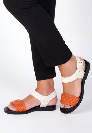 Sandals - orange/black