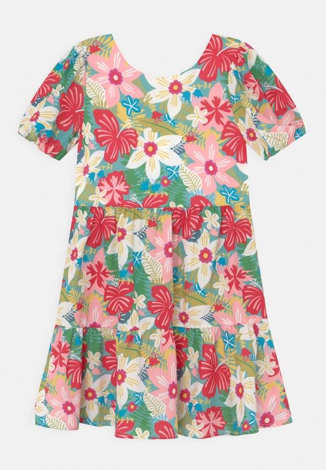 GIRLS PUFF SLEEVE FLORAL PRINT TIERED DAY DRESS - Denní šaty - multi-coloured