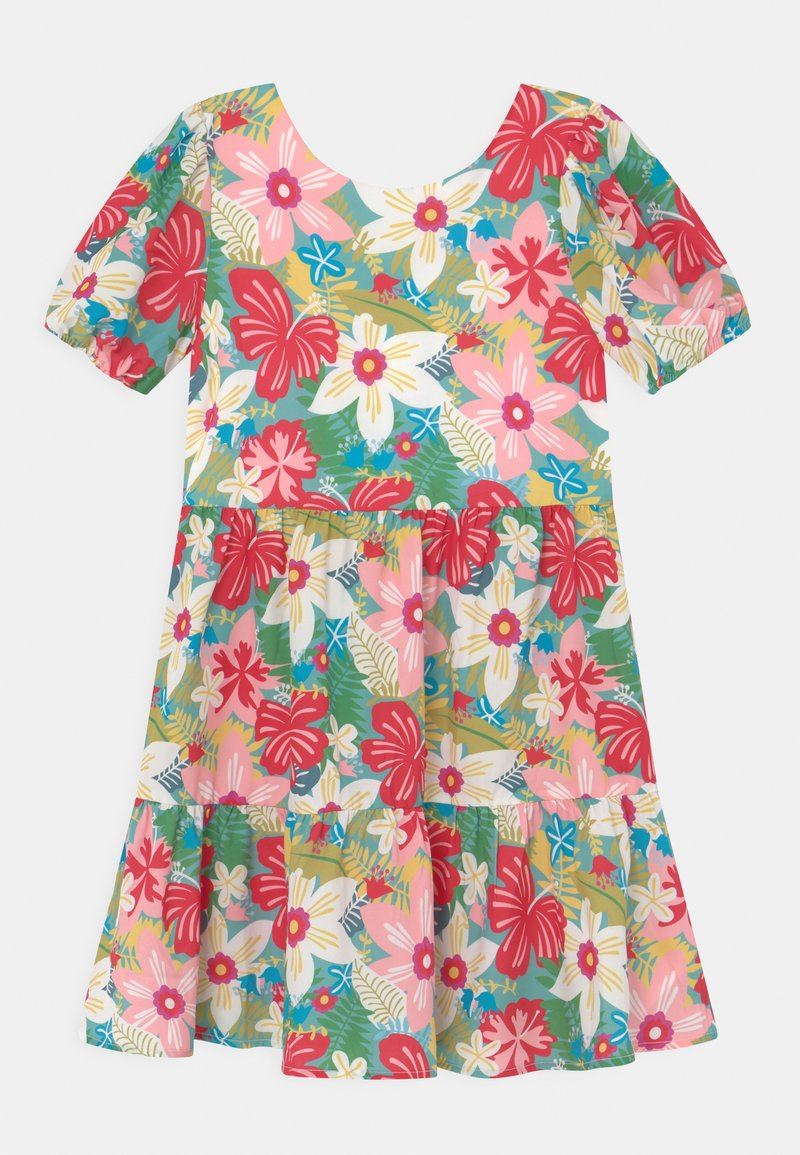 Chi Chi Girls - GIRLS PUFF SLEEVE FLORAL PRINT TIERED DAY DRESS - Denní šaty - multi-coloured