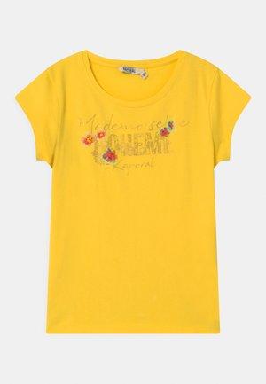 FLORAL - Triko spotiskem - citron