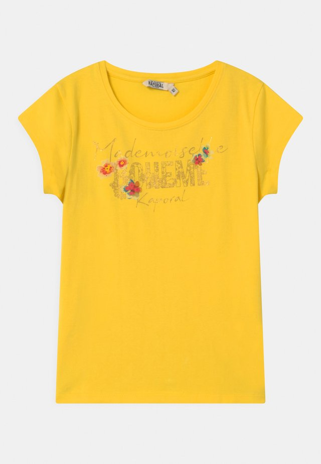 FLORAL - T-shirt con stampa - citron