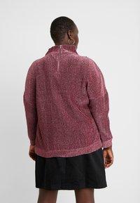 Simply Be - HIGH NECK - Strikkegenser - pink - 2