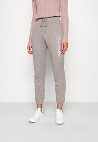 Abercrombie & Fitch - FALL TREND LOGO JOGGER - Tracksuit bottoms - grey - 0