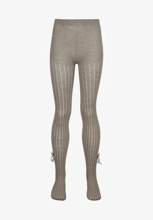 Tights - hautfarben beige blend ribbed with bow