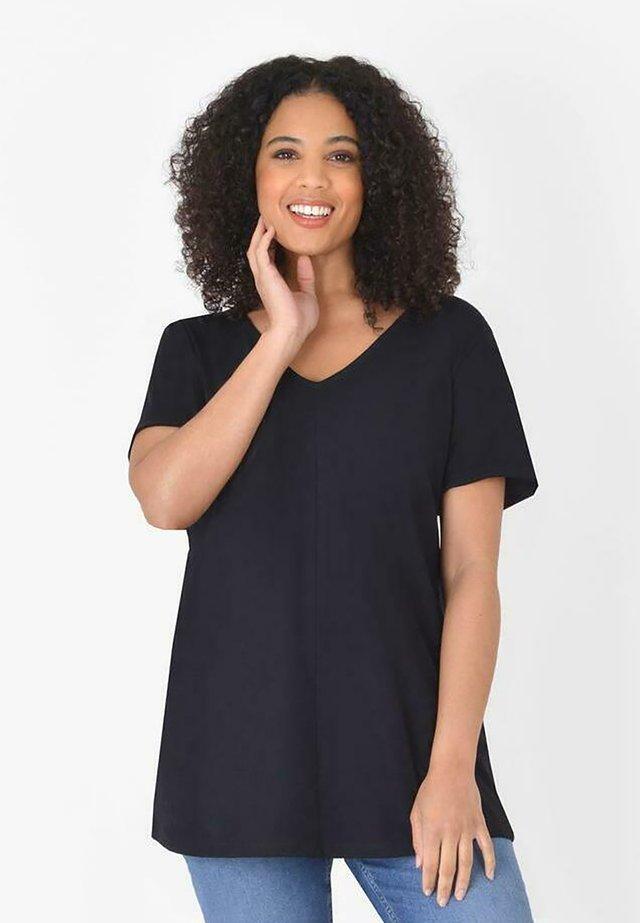 BLACK LONGLINE  - T-shirt basic - black