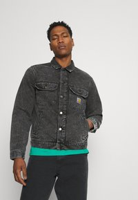 Carhartt WIP - STETSON JACKET PARKLAND - Giacca di jeans - black worn washed - 0