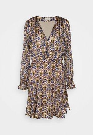 PRINTED LONG SLEEVED MINI DRESS - Day dress - combo