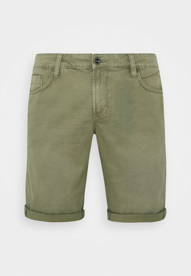 LUCKY FIVE POCKET - Denim shorts - army