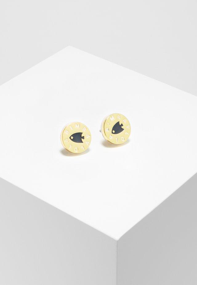 BIMBA Y LOLA NAVY FISH LOGO EARRINGS - Earrings - navy