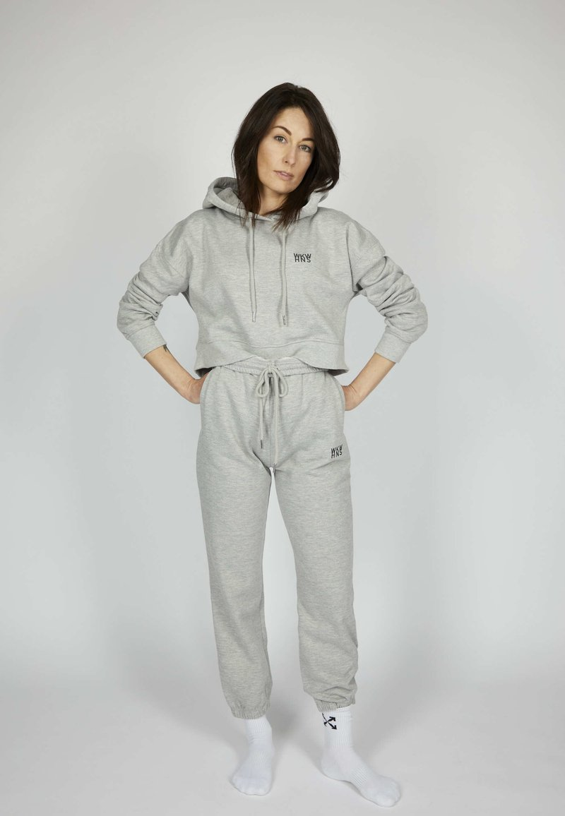 one more story - ICON - Tracksuit bottoms - silver grey melange