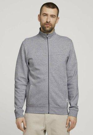 MIT STEHKRAGEN - Zip-up sweatshirt - light stone grey melange