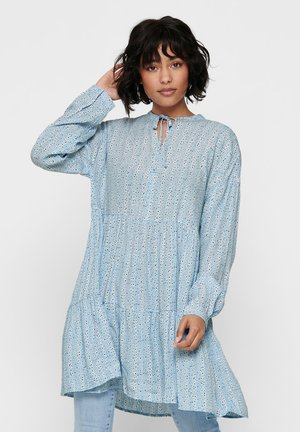 TUNIKA LOCKERE RÜSCHEN - Tunic - cashmere blue