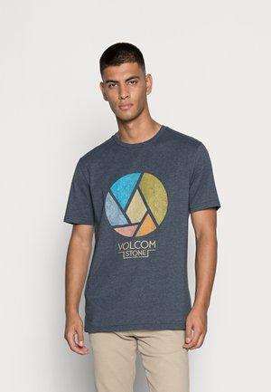 SPLICER - Print T-shirt - navy