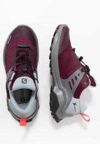 Salomon - X RAISE GTX - Hiking shoes - wine tasting/quarry/cayenne - 1