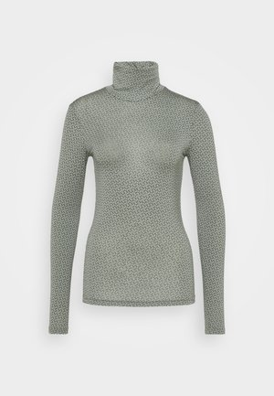 PRINTED ROLLNECK - Long sleeved top - green
