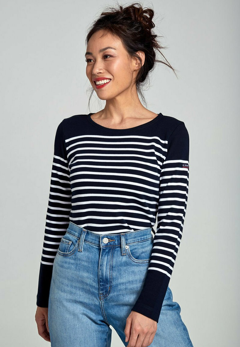 Armor lux - AMIRAL MARINIÈRE - Long sleeved top - rich navy blanc