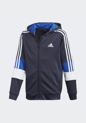 MUST HAVES AEROREADY 3-STRIPES FULL-ZIP HOODIE - Sudadera con cremallera - blue
