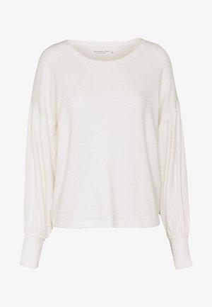 CINCH FRONT COZY - Jumper - white