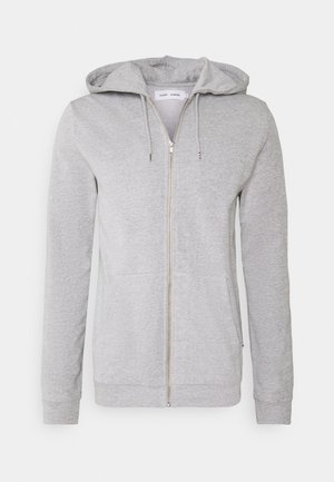 ENNO ZIP HOODIE - Mikina na zip - light grey melange