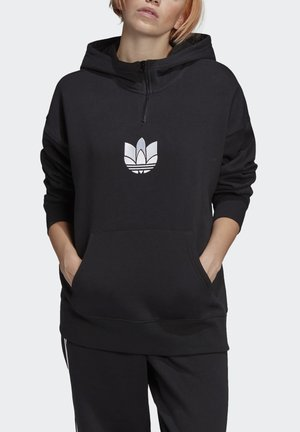 ADICOLOR SPORTS INSPIRED LOOSE HOODED SWEAT - Huppari - black/white