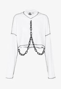 The Ragged Priest - PLASTIC CHAIN DRAPE SKATER TEE - Topper langermet - white - 4