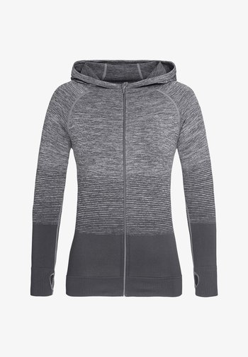 Zip-up sweatshirt - light grey transition