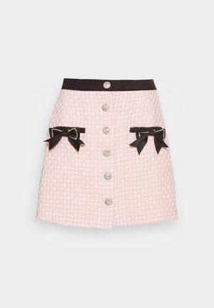 SECRET GARDEN TWEED MINI SKIRT - Minisukně - pink