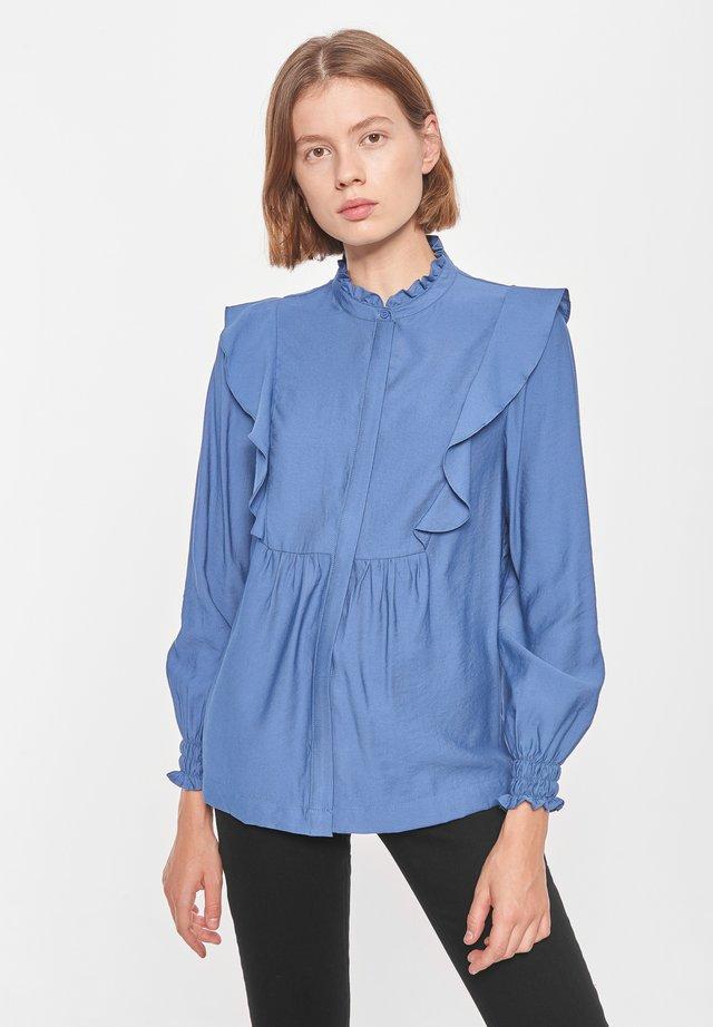 BARBARA - Button-down blouse - bijou blue