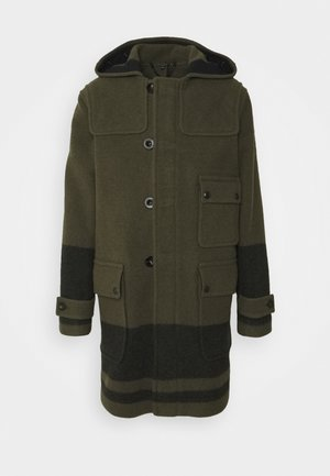 BORDER DUFFLE COAT - Wollmantel/klassischer Mantel - salvia/black
