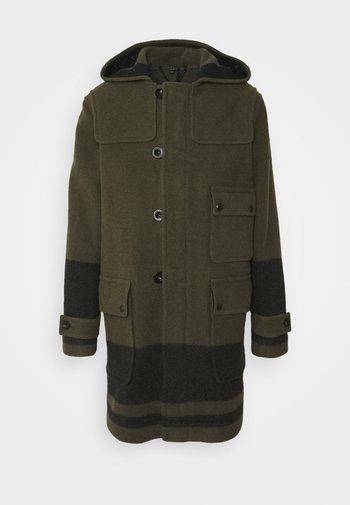 BORDER DUFFLE COAT - Klasický kabát - salvia/black