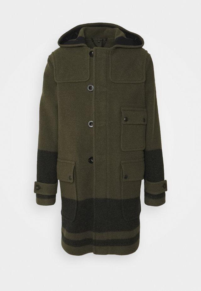 BORDER DUFFLE COAT - Zimní kabát - salvia/black