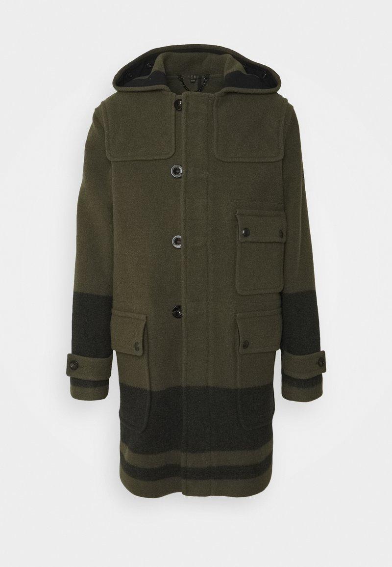 Belstaff - BORDER DUFFLE COAT - Classic coat - salvia/black