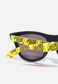 Santa Cruz - DRIPPY DOT SUNGLASSES UNISEX - Sunglasses - yellow/ black - 2