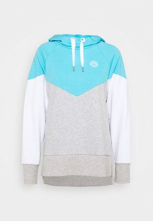 FLAVIA LIFESTYLE HOODY - Mikina s kapucí - aqua/light grey/white