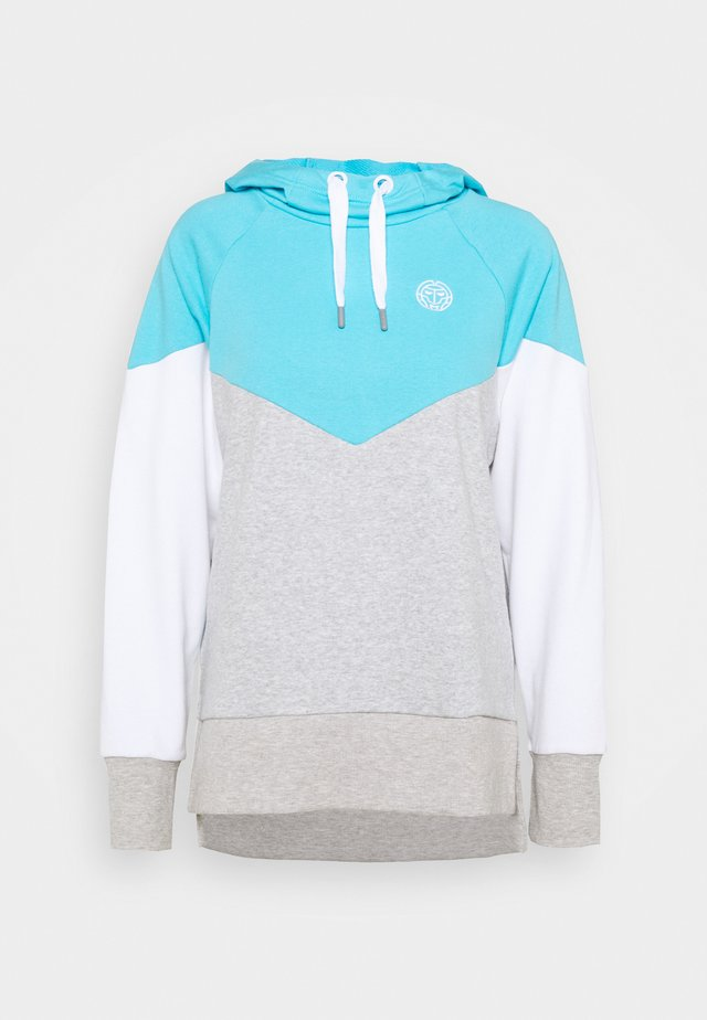 FLAVIA LIFESTYLE HOODY - Huppari - aqua/light grey/white
