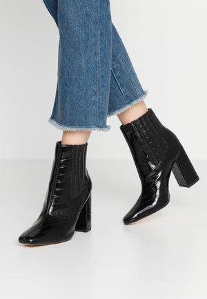 COVERED GUSSET - Ankelboots med høye hæler - black