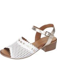 Piazza - Sandals - weiß/gold - 1