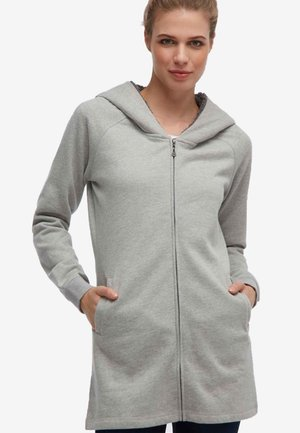 Zip-up hoodie - mottled grey
