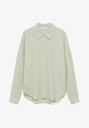 Button-down blouse - pastellgrün
