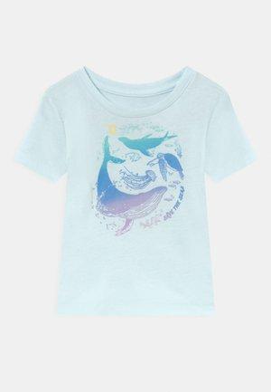 NATIONAL GEOGRAPHIC TODDLER GIRL SUMMER  - Print T-shirt - blue