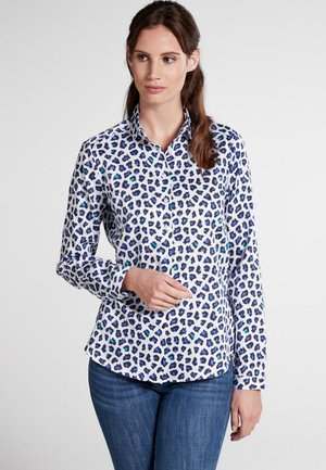 MODERN CLASSIC - Button-down blouse - blue/white/turquoise