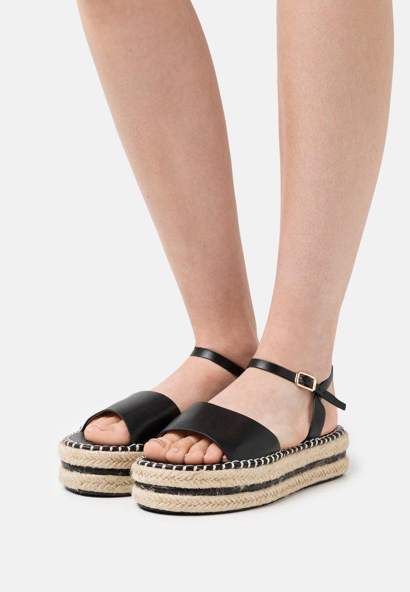 BEBO - MONROE - Platform sandals - black