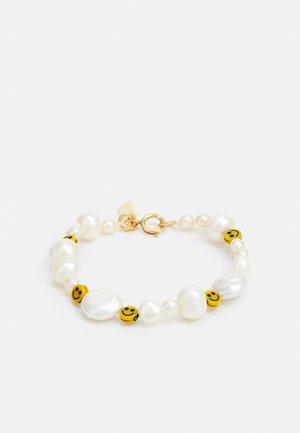 DUDE BRACELET - Bracelet - white/yellow