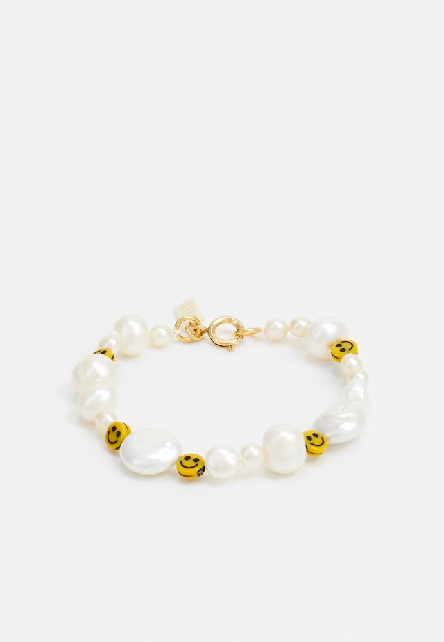 DUDE BRACELET - Bracelet - white/yellow