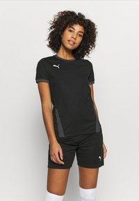 Puma - TEAM GOAL  - Treningsskjorter - black/asphalt - 0