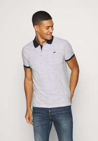 Hollister Co. - CORE PRINTS - Polo - grey - 0