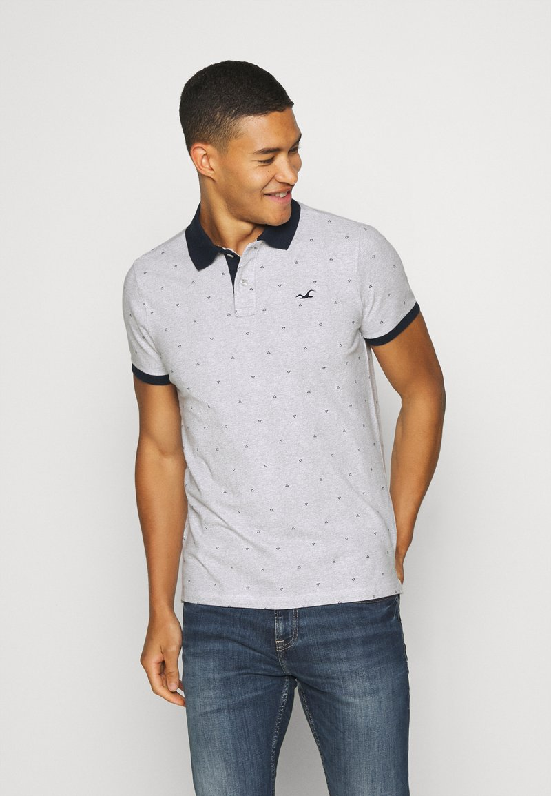 Hollister Co. - CORE PRINTS - Polo - grey
