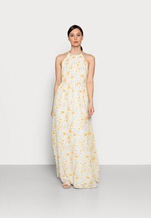 Maxi dress - white/yellow