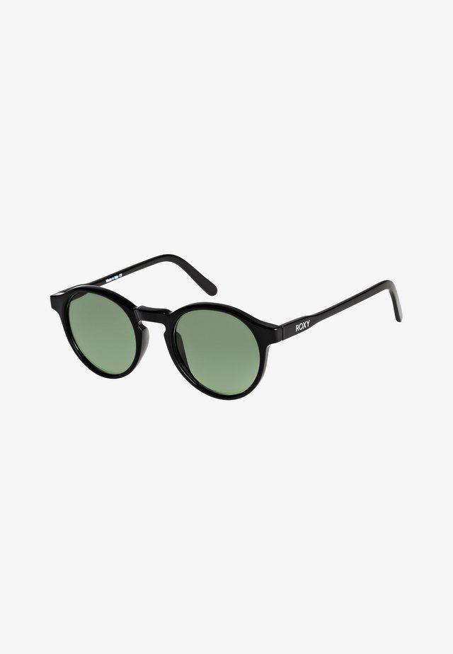 MOANNA  - Sunglasses - shiny black/min glass gree pol